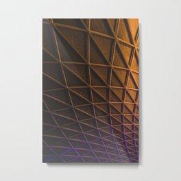 Fire Curve Metal Print