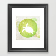 Ocean Series - Mama Turtle Framed Art Print