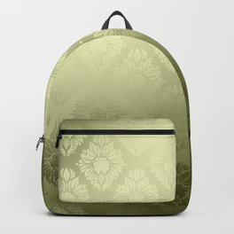 """Olive Damask Pattern"" Backpack"