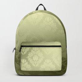 """""""Olive Damask Pattern"""" Backpack"""