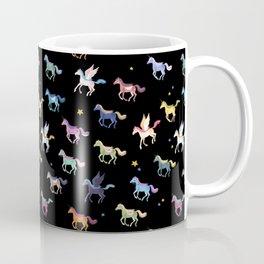 Magic Horses black background Coffee Mug