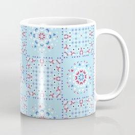 Retro Kitchen Quilt Patchwork Tile Pattern Coffee Mug