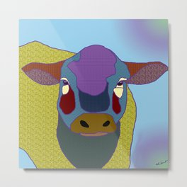 Molly  Moo Cow Metal Print