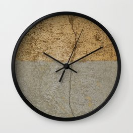 Concrete and gold Wall Clock