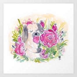 Rose Loves Roses Art Print