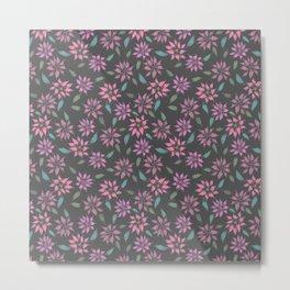 Dark Winter Floral Metal Print