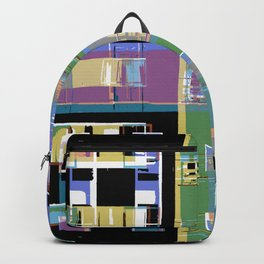 Abstract city apartments Backpack