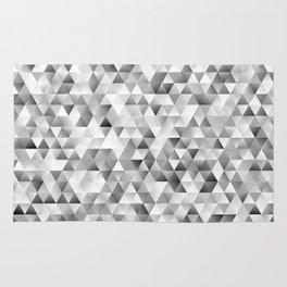 Grey triangle pattern Rug