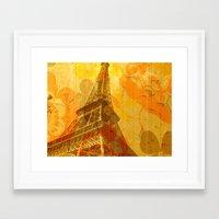 eiffel Framed Art Prints featuring Eiffel by 3crows