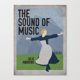 The Sound of Music Staring Julie Andrews Canvas Print