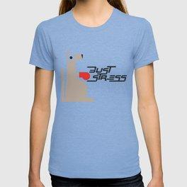 Bust Stress, Be Kangaroo Fighting Boxfit Gym Workout T-shirt