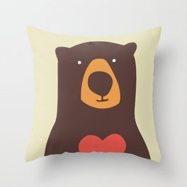 Hearty bear hug Throw Pillow