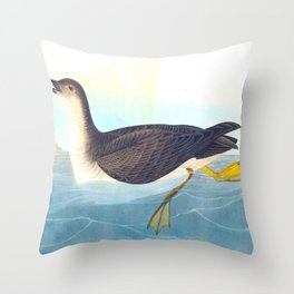 Manks Shearwater Bird Throw Pillow