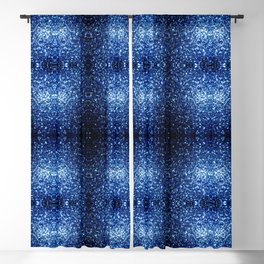 Beautiful Dark Blue glitter sparkles Blackout Curtain