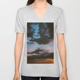 Dusk Sunset (Color) Unisex V-Neck