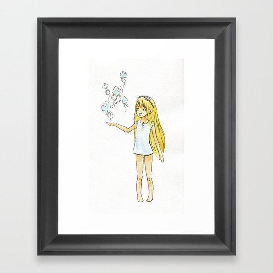 Jellyfish Girl Framed Art Print