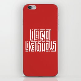 Life is not like tv shows iPhone Skin