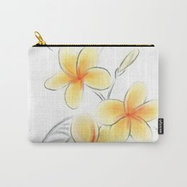 Frangipani Sketch Carry-All Pouch