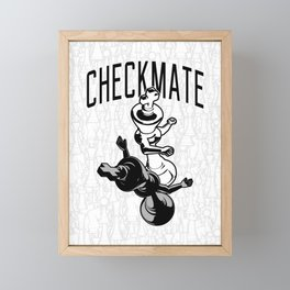 Checkmate Punch Funny Boxing Chess Framed Mini Art Print