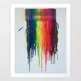Melted Rainbow Art Print