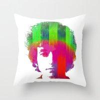 dylan Throw Pillows featuring Dylan by Kip Sikora
