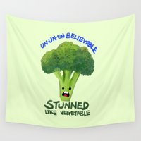 vegetable Wall Tapestries featuring Stunned Like Vegetable by hkxdesign