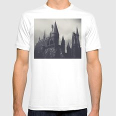 Ominous Castle MEDIUM White Mens Fitted Tee