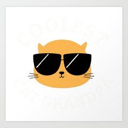 Coolest Cat Grandpa Art Print