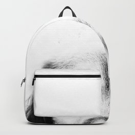 Dog portrait in black & white Backpack