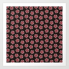 Traditional Japanese pattern YAEZAKURA Art Print