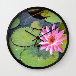 Water Lily, V Wall Clock