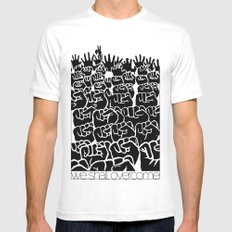 Overcome MEDIUM Mens Fitted Tee White