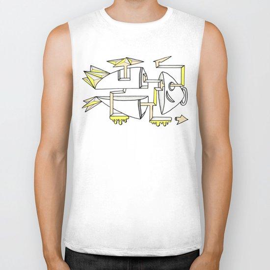 am fishin' lost Biker Tank