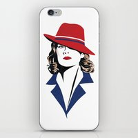 peggy carter iPhone & iPod Skins featuring Peggy Carter by Arne AKA Ratscape