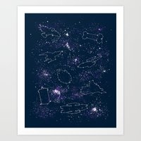 ships Art Prints featuring Star Ships by Mandrie