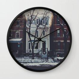 Snowy Chicago Wall Clock