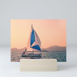 Yacht racing Mini Art Print