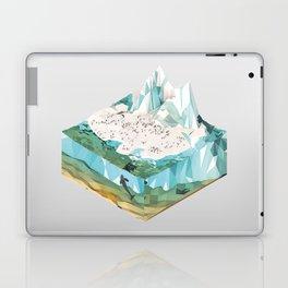 Low Poly Arctic Scenes - King Penguins (Isometric) Laptop & iPad Skin