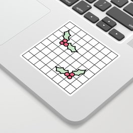 Holly Grid Sticker