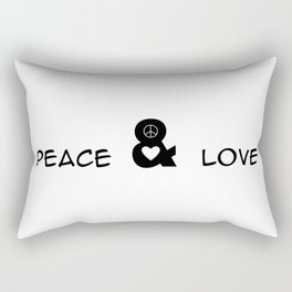 Peace and Love Motivational Pop-Art Rectangular Pillow