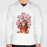 sakura Hoodies featuring Sakura by Asura Art