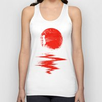sun Tank Tops featuring The Land of the Rising Sun by nicebleed