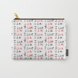 I love USA 5- america,us,united states,american,new york,hollywood,spangled,banner,star and strips Carry-All Pouch