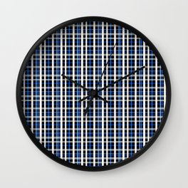The checkered pattern . Wall Clock