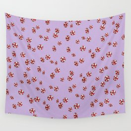 Peppermint Candy in Purple Wall Tapestry