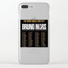 BrunoMars XXIVk Clear iPhone Case
