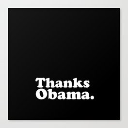 Thanks Obama. Canvas Print