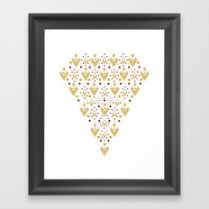 Geometric Diamond Framed Art Print