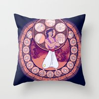 aladdin Throw Pillows featuring Aladdin by NicoleGrahamART