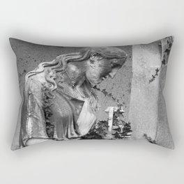 sad female statue Rectangular Pillow